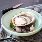 Abalone with black truffle, celeriac & buerre blanc
